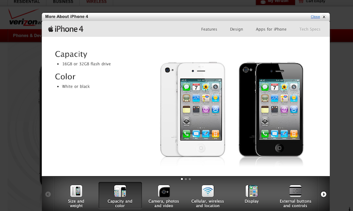 verizon iphone upgrade why is there a white iphone on verizon s website update 13236