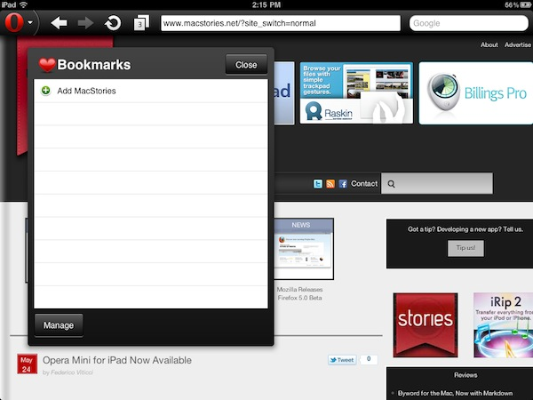 Opera Mini for iPad Now Available – MacStories