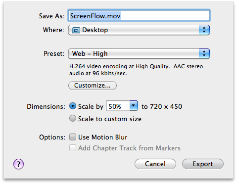Screenflow Export