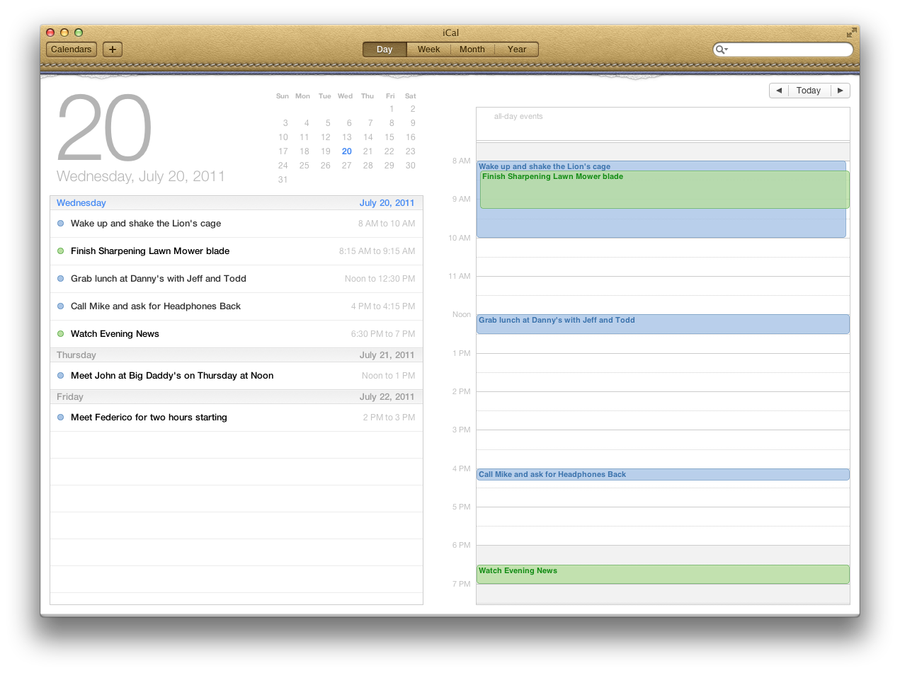 Calendar Planner Osx : A new cat to tame os lion review macstories