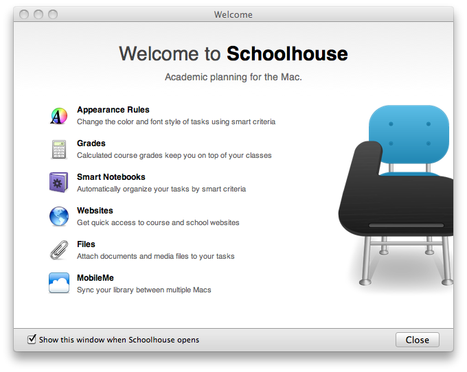 Schoolhouse Welcome Screen