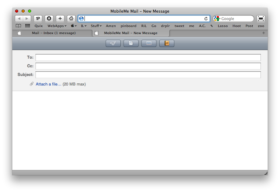 MobileMe New Message