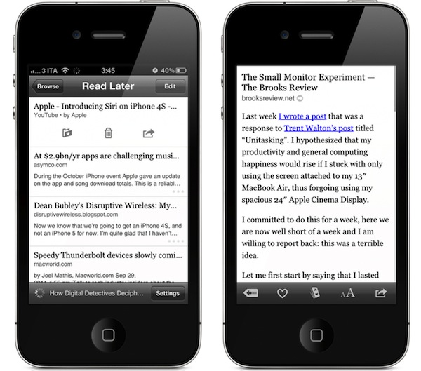 Instapaper 4 0 Available: Completely Redesigned iPad UI, New
