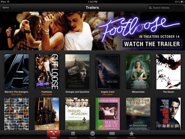 Apple Launches 'iTunes Movie Trailers' for iOS – MacStories