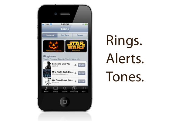 The iTunes Tone Store. Rings. Alerts. Tones.